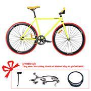 Xe đạp Topbike Fix phát quang khung màu vàng