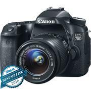 Canon EOS 70D + Kit EF-S 18-55mm F/3.5-5.6 IS STM (Chính Hãng)