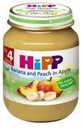 Dinh dưỡng đóng lọ chuối, đào, táo Hipp