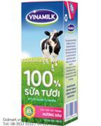 Sữa tươi tiệt trùng 100% hương dâu- Hiệu Vinamilk