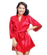Áo khoác ngủ Kimono WANNABE DN470 - Đỏ