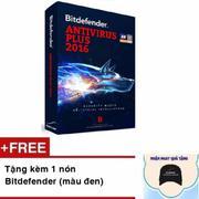 Phần mềm diệt virus Bitdefender Antivirus Plus 2016 bản quyền 1 máy 1 năm Tặng kèm nón