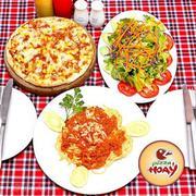Set Pizza, Mỳ Ý Kèm Đồ Uống Hấp Dẫn Cho 2 Người Tại Pizza Hoa Ý