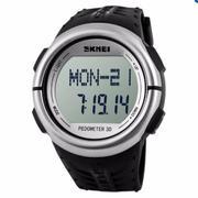 Đồng hồ đo nhịp tim Skmei 1058 (Đen viền xám)