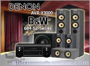 DENON AVR X3000 - B&W 684 S2 Series