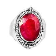 Nhẫn nam Ruby bạc 925 cao cấp Hadosa