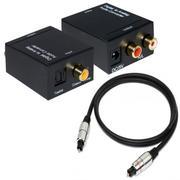 Bộ chuyển âm thanh TV 4K quang optical sang audio AV ra amply + Cáp optical 1m + Dây AV 4 Đầu bông s...