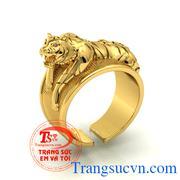 Nhẫn nam vàng tây Hổ