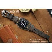 Dây đồng hồ da thật Handmade cho Apple Watch ( 38mm và 42mm ) – Mẫu DC24-D02-Tấm Lót