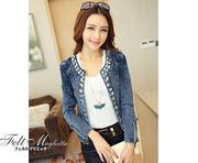 Áo khoác jeans nữ đính đá