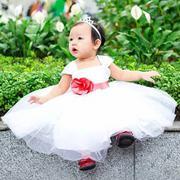 Đầm công chúa đính hoa đỏ dễ thương cho bé gái Jadiny - DG007