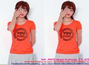 Áo thun nữ màu cam hình happy you đáng yêu  ATNU476