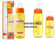 Bình sữa Wesser Nano Silver 240ml kháng khuẩn, an toàn cho bé