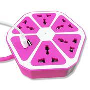 Ổ cắm điện đa năng thông minh - tích hợp cổng USB - Hồng