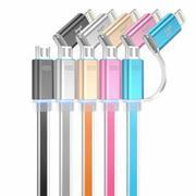 Cáp Hoco 2 In 1 UPL08 2 Cổng Micro USB Và Lightning