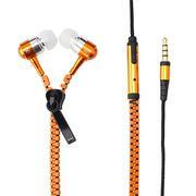 Tai nghe dây kéo Zippers chống rối dây - màu cam