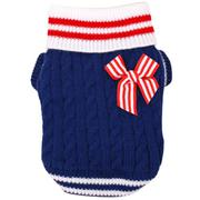 Cute Navy Style Puppy Dog Warm Jumper Knit Sweater Knitwear Clothes Pet Winter Coat Costume Apparel ...