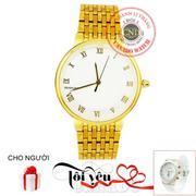 Đồng hồ nam dây thép không gỉ BAISHUNS C0052 (Vàng)+ Tặng Đồng hồ nữ dây inox chống gỉ nuc20209 (Vàn...
