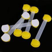 5pcs Set Baby Child Kids Drawer Cabinet Lock Long Style Safety Lock Yellow - INTL