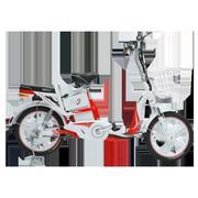 Xe đạp điện HK Bike ZINGER COLOR (Đỏ phối trắng) + Tặng 1 nón bảo hiểm HK Bike