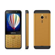 Điện thoại Hphone H242 màu đen vàng