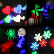 4 card Gobo Stage light with changeable Multi-pattern cards LED RGBW light (Intl)