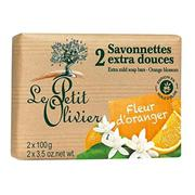 Bộ 2 Xà Phòng Le Petit Olivier Hương Cam Orange Blossom - Thỏi 100g