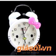 Đồng hồ báo thức để bàn cho bé 17063 (Trắng nơ hồng)