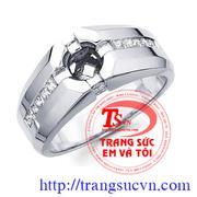 Nhẫn nam vàng trắng
