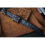 Dây đồng hồ Cá Sấu thật cho Apple Watch 1 and 2 (Apple Watch Sport) size 38mm và 42mm