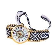 Fashion Feather Figure Weaving Lady Bracelet Table Watch