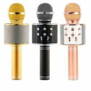 Micro hát karaoke Bluetooth 3in1 kèm loa WS-858 (Đen)
