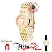 Đồng hồ nữ dây thép không gỉ BAISHUNS C0058 (Vàng) + Tặng Đồng hồ nữ dây inox chống gỉ nuc20208 (Vàn...