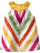 Chevron striped jumper dress