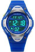 Đồng hồ trẻ em dây nhựa Skmei 1077 (Xanh)