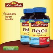 Dầu cá Nature Made Fish Oil Omega 3 1200mg hộp 120 viên của Mỹ