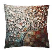 Creative Color Tree Plant Pattern Cotton Pillow Cases Waist Pillowcases - intl