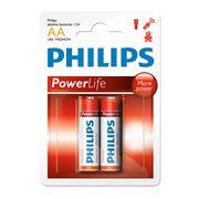 Vỉ 2 viên pin AA Alkaline Philips LR6P2B/97 1,5V (Đỏ)