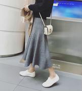 chân váy maxi len