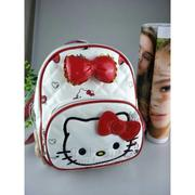 Balo đi học,đi chơi dành cho bé gái,hàng cao cấp hình Hello Kitty màu TRẮNG ĐÒ 20cmX25cm BLKT88003