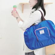 OH Folding Waterproof Eco Shopping Travel Shoulder Bag Pouch Tote Handbag Blue - intl