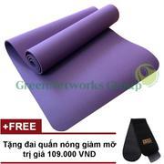 Thảm tập Yoga TPE 6mm cao cấp Zera GnG có túi đựng + Tặng đai quấn tan mỡ bụng