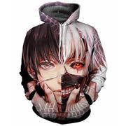áo hoodie 3d phối màu anime