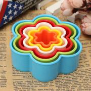 6PCS Cake Cookie Biscuit Pastry Fondant Pastry Baking Colourful Cutter Mould Mold - intl