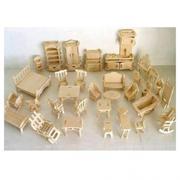 Bộ đồ chơi gỗ xếp hình vật dụng gia đình
