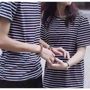 Áo đôi kẻ sọc chât coton mềm đẹp - ADKS50
