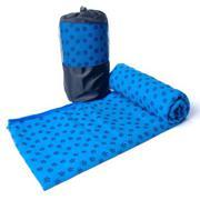 Khăn trải thảm tập Yoga với hạt PVC chống trơn GocgiadinhVN (xanh)