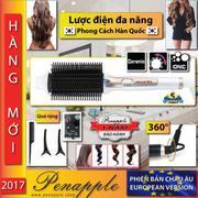 3 in 1 Lược điện đa năng Thiết kế tại Hàn Quốc KOREA + Tặng lược, kẹp tóc, tấm dán tóc làm đẹp và tr...
