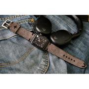 Dây đồng hồ da thật Handmade cho Apple Watch ( 38mm và 42mm ) – Mẫu DC20-Nubuck