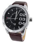 Đồng hồ nam Curren Chronometer 8125 dây da - Nâu